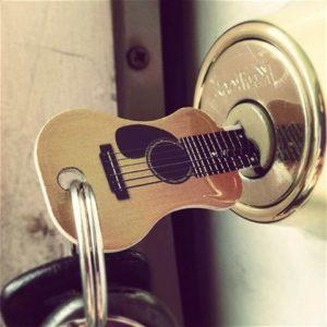 Guitare porte-clés-Musicien Cadeau