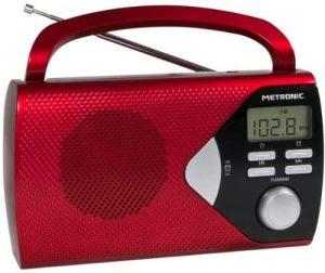poste radio rouge avec poignée