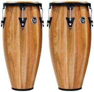 Latin Percussion LPA647-SW Aspire - Ensemble de congas en bois 28 cm et 30,5 cm Noyer Siam Noir